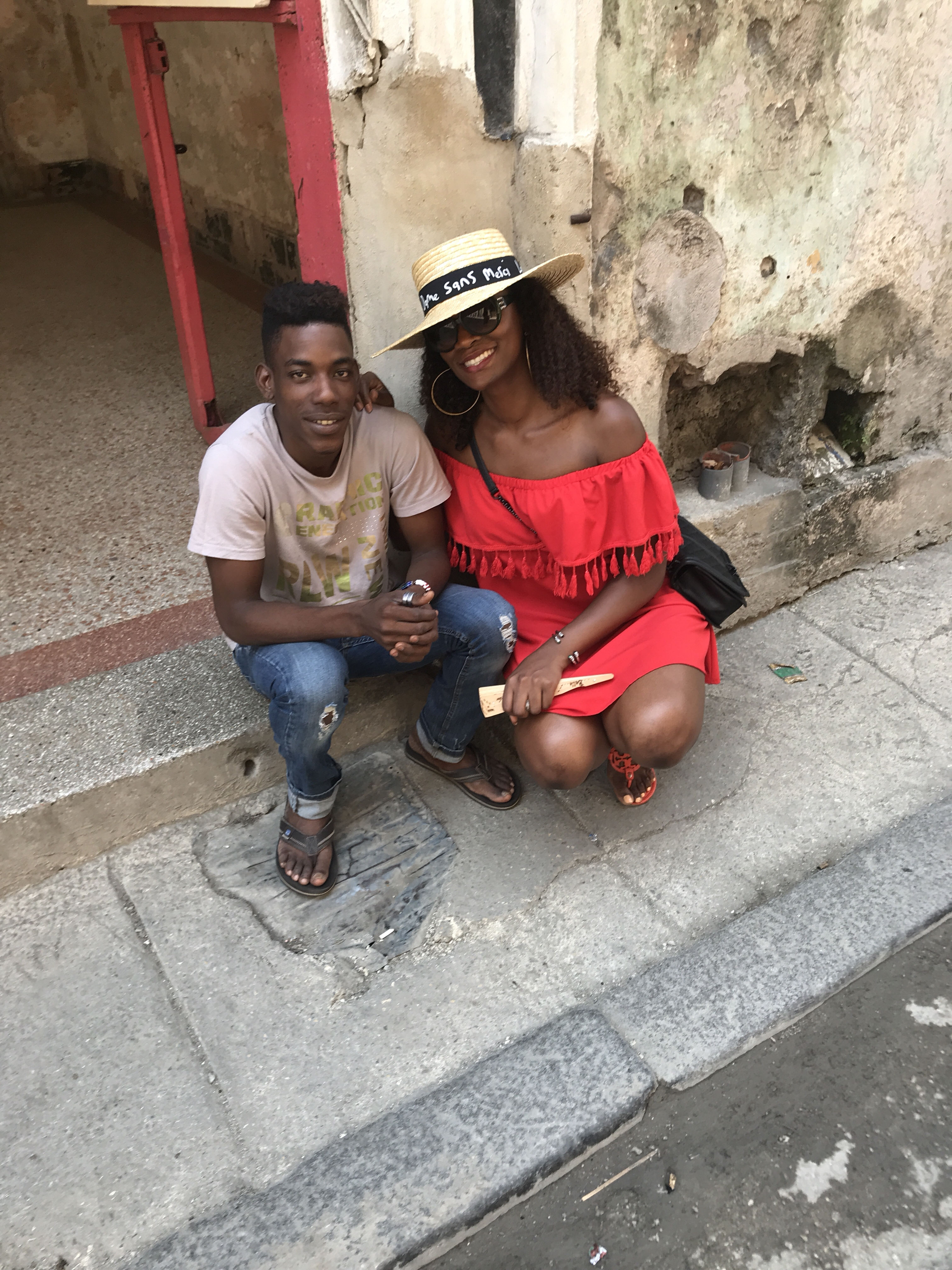 With my new friend on the streets of Old Havana