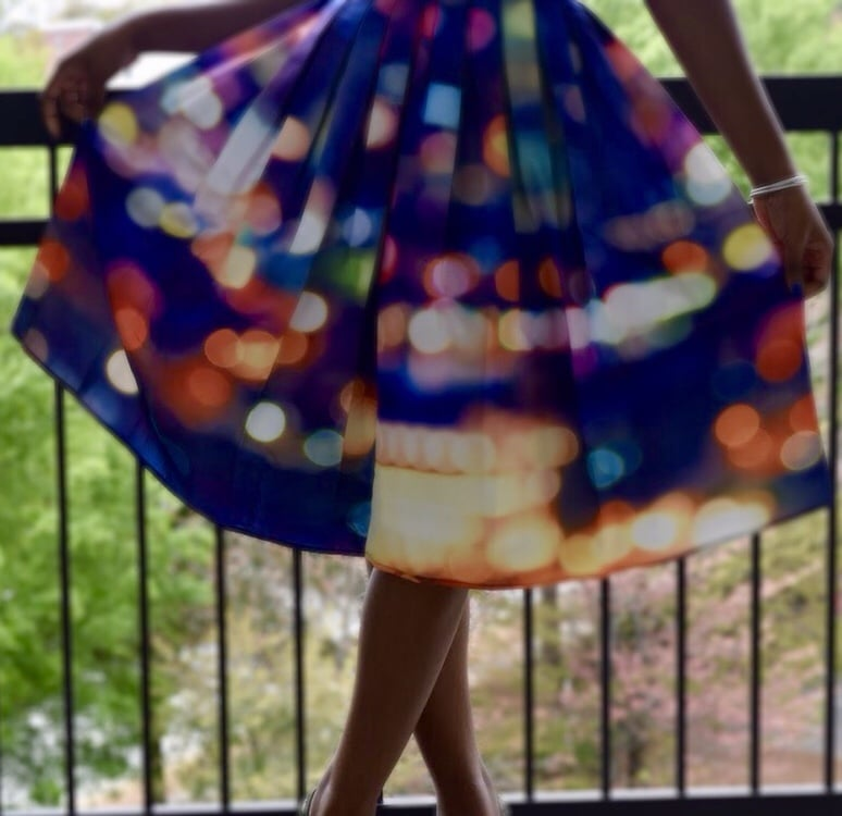 A-line skirts colorful
