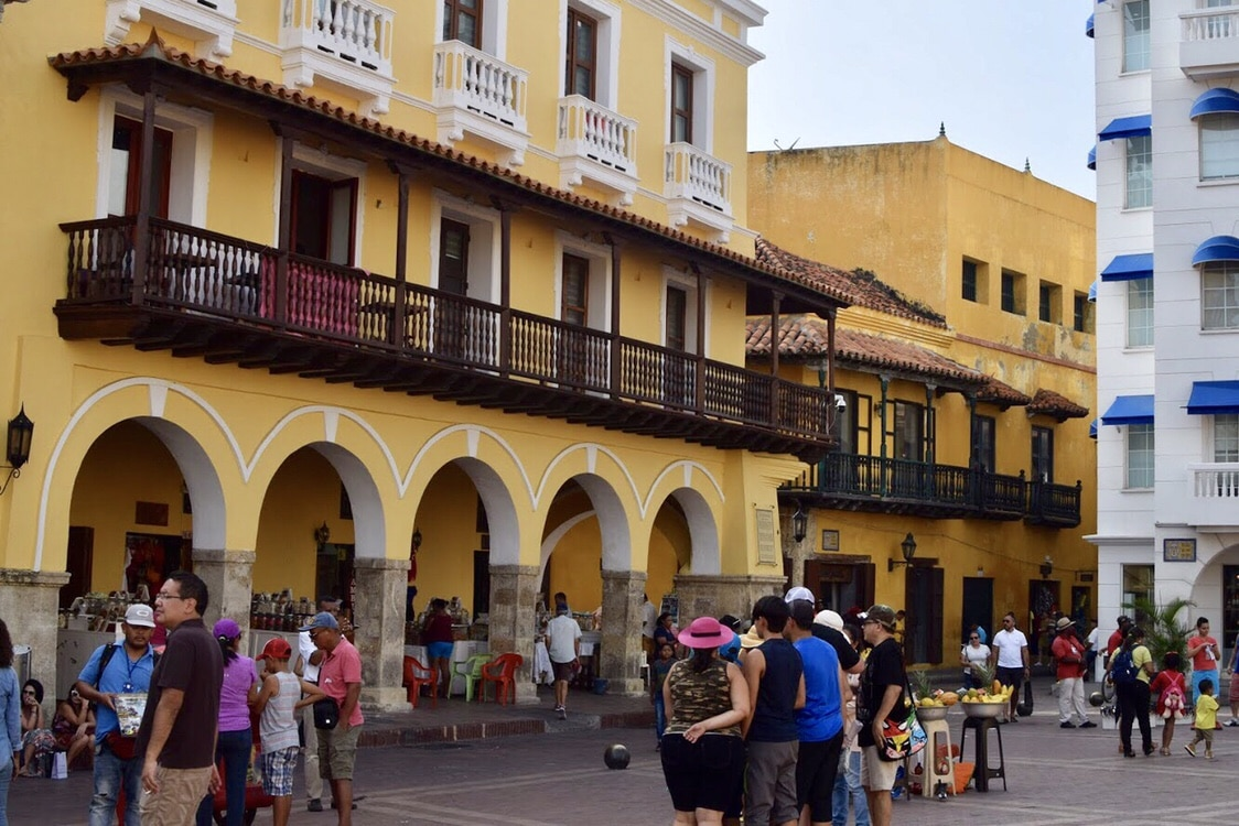 Travel to Cartagena Colombia Square Inside Walled City