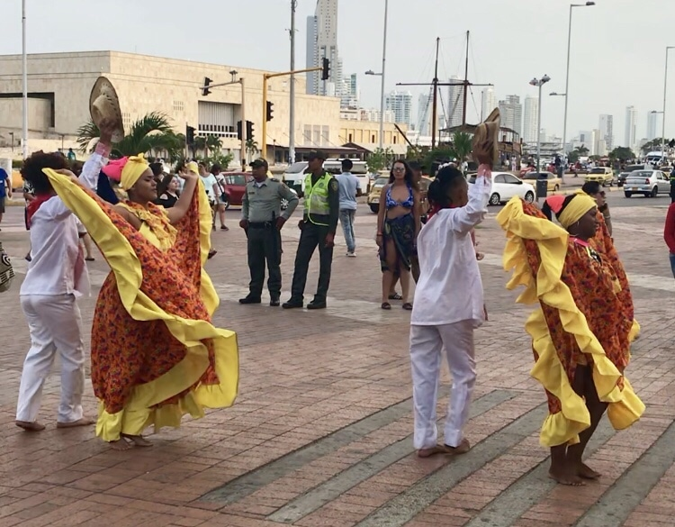 Travel to Cartagena Colombia Walled City Dancing